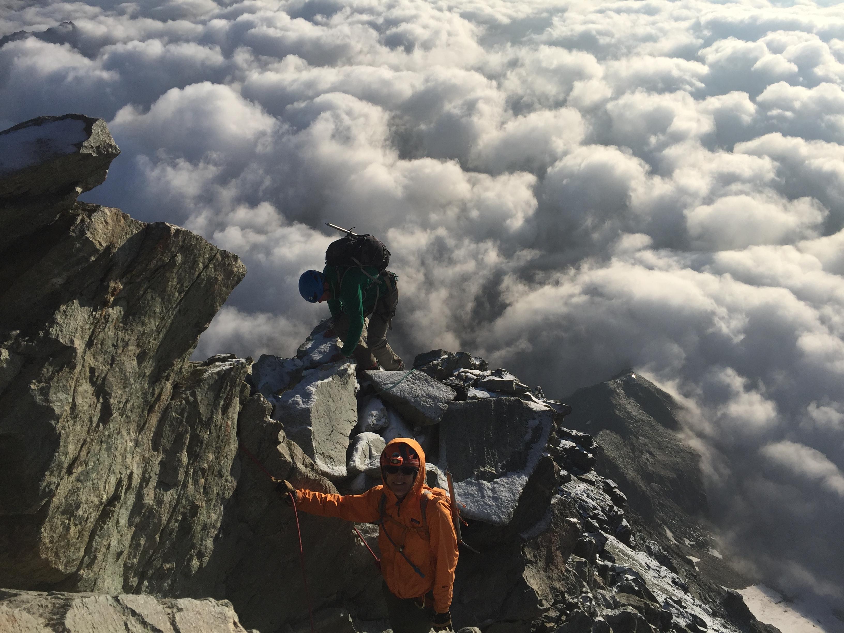 climb the matterhorn cervin Ross Hewitt Guiding 6