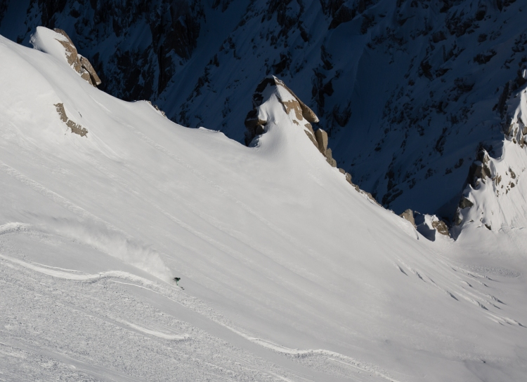 Ross Hewitt ski Guiding freeride on Grand Envers