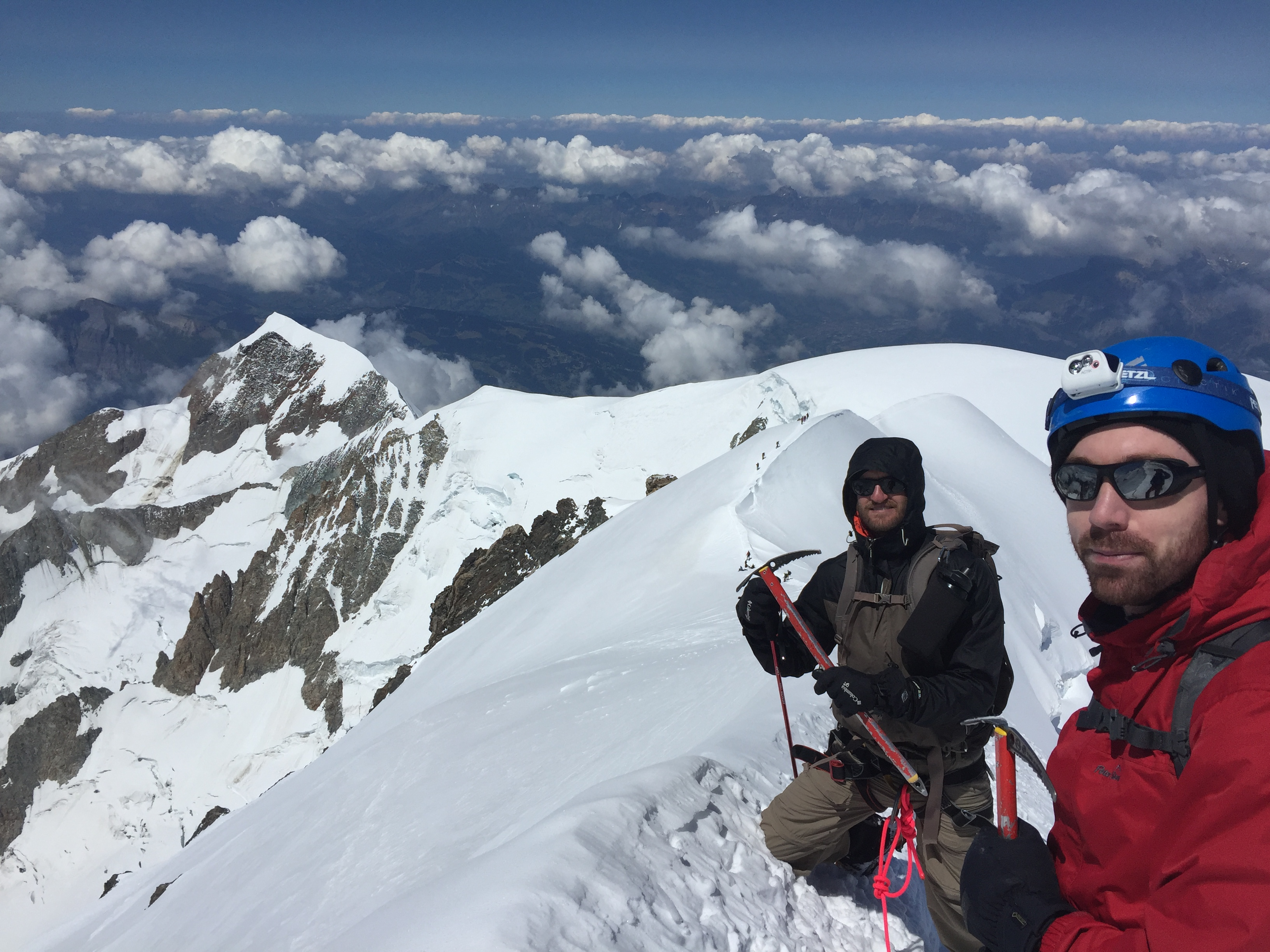 Bosses Ridge Mont Blanc Ross Hewitt Guiding