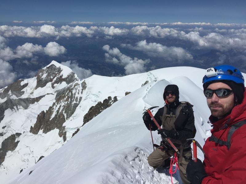 Bosses Ridge Mont Blanc Ross Hewitt Guiding