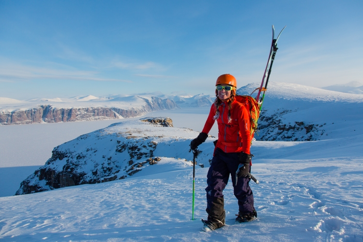 Ross Hewitt Guiding Baffin Island skiing 180
