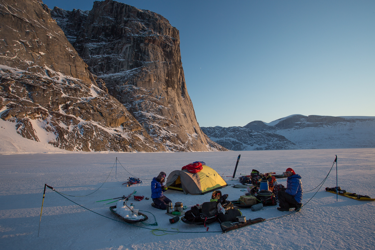 Ross Hewitt Guiding Baffin Island skiing 158