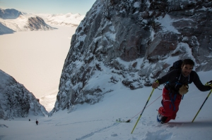 Ross Hewitt Guiding Baffin Island skiing 142