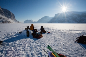 Ross Hewitt Guiding Baffin Island skiing 120