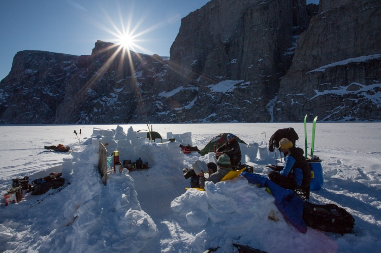 Ross Hewitt Guiding Baffin Island skiing 102