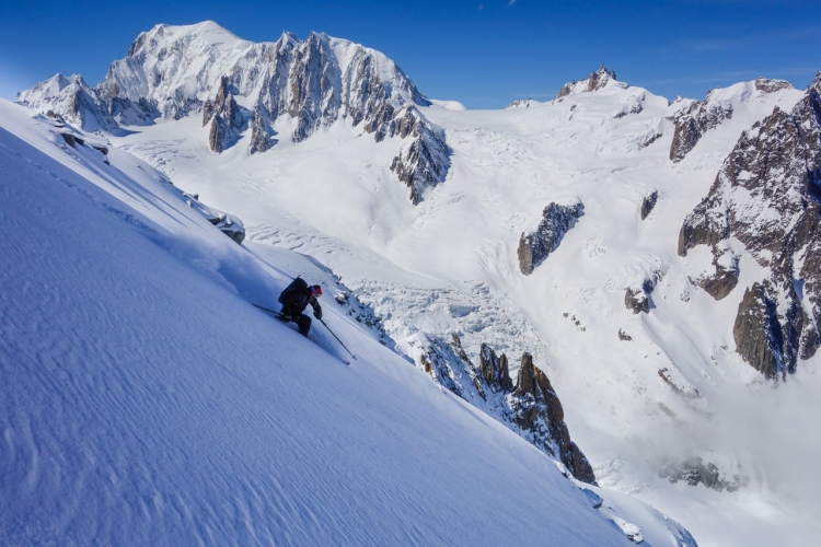 Ross Hewitt Guiding Chamonix Freeride 54