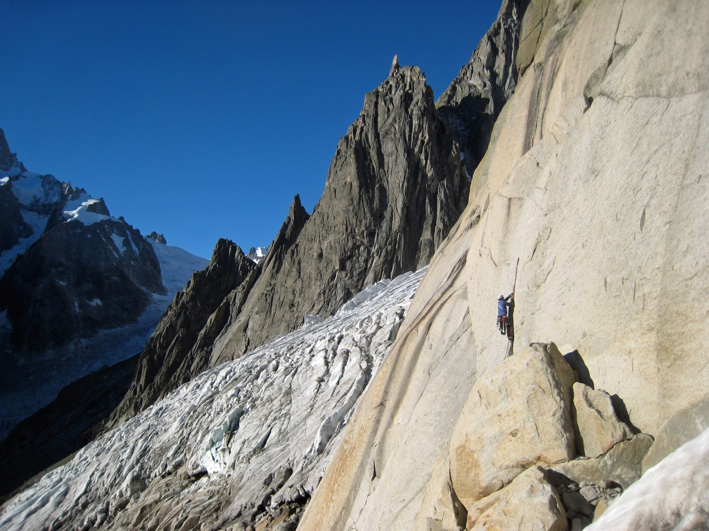 Ross Hewitt Guiding alpine rock 8