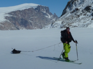 Ross Hewitt Guiding expedition skiing Baffin Island 1