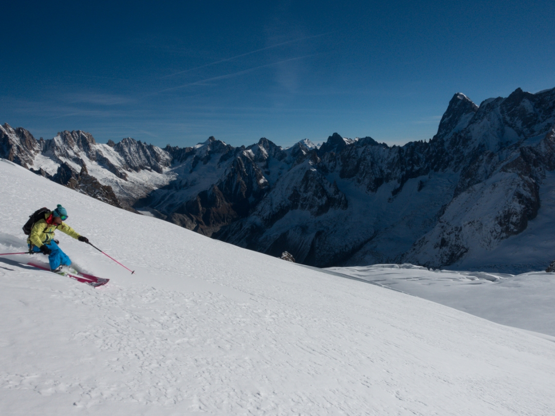 Ross Hewitt Ski Guiding Valley Blanche