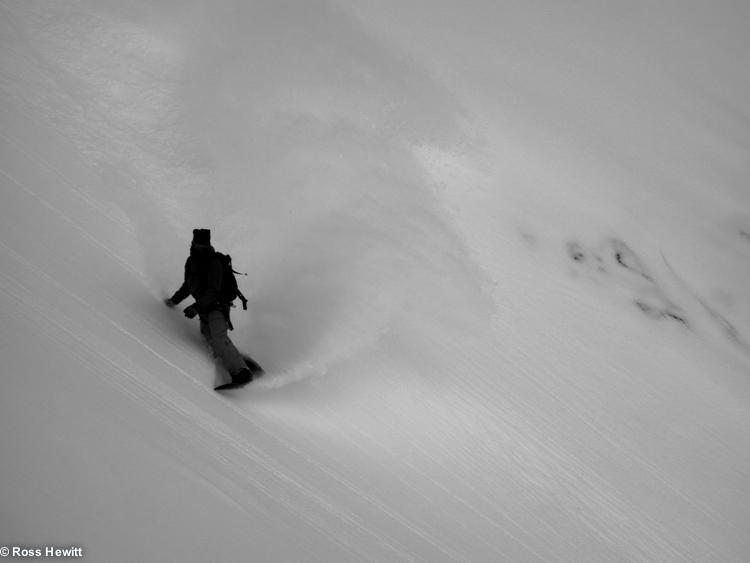 Luca Pandolfi snowboarding Marbree Ross Hewitt Guiding