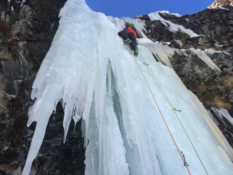 Ross Hewitt Guiding ice Cogne Calum Muskett
