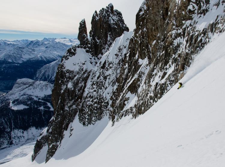 Ross Hewitt Guiding snowboarder Luca Pandolfi