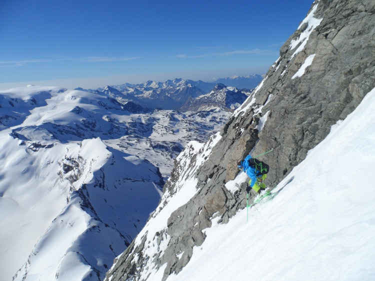 Ross Hewitt Skiing the Matterhorn East Face