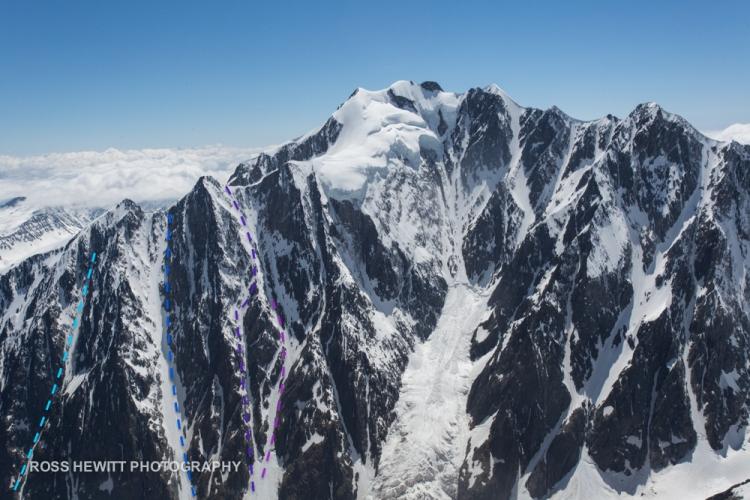 Petit Mont Blanc Ski Topo Routes Ross Hewitt-1