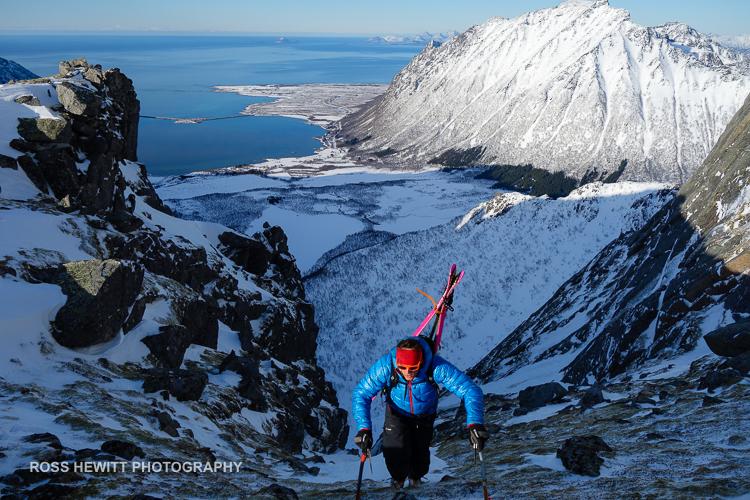 Lofoten Skiing Ross Hewitt Michelle Blaydon-50