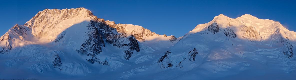Sunrise on Aoraki / Mount Cook and Tasman by Ross Hewitt