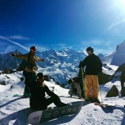 Avalanche course crew on Brevent