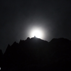 Full Moon on Aiguille du Plan