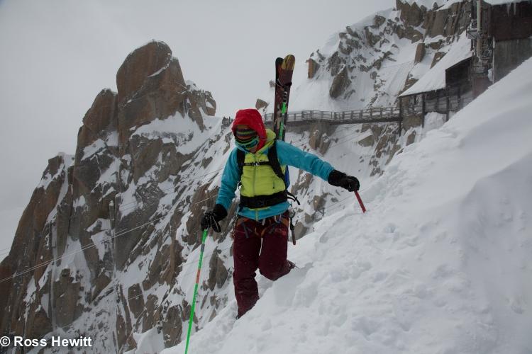 Michelle Blaydon in vallee blanche