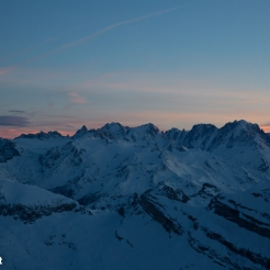 Dawn from Dents du Midi refuge