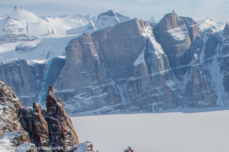Baffin Island Gibbs Fiord couloir ski descent topo Ross Hewitt-1-3