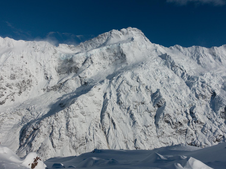 Sefton after November snowfall Aoraki Mount Cook range NZ by Ross Hewitt
