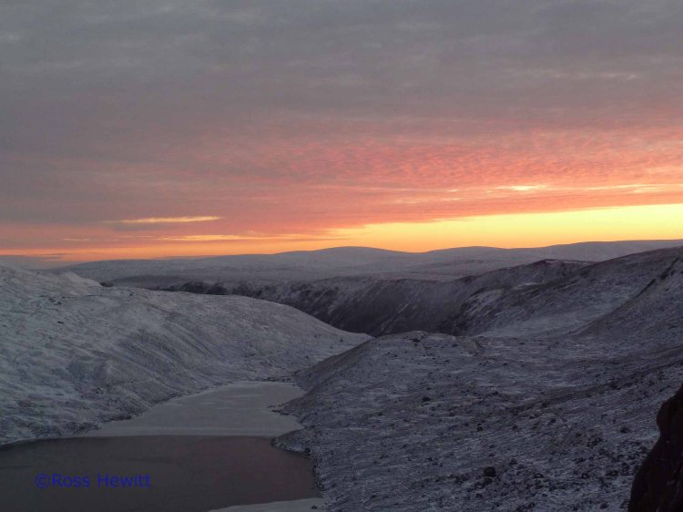 Sunrise Glen Muick from Creag an Dubh Loch Central Gully