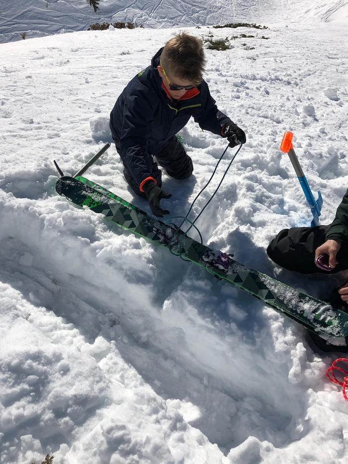 Snow anchors and crevasse rescue