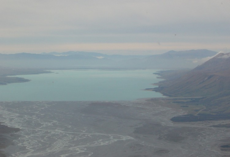 Lake Pukaki from Chopper