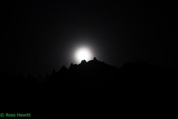 Chamonix full moon