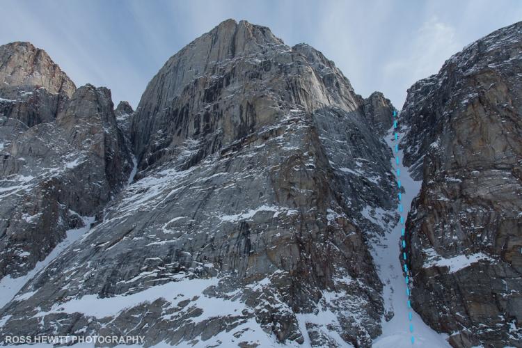 Baffin Island Gibbs Fiord couloir ski descent topo Ross Hewitt-1-2