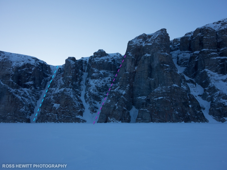 Baffin Scott Island ski descent topo Ross Hewitt-1