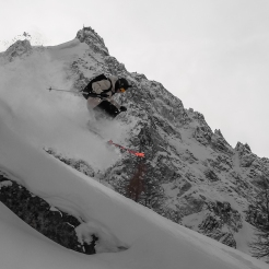 Ross Hewitt enjoying deep january powder days