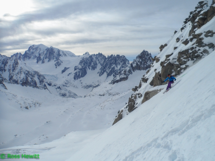 Michelle Blaydon skiing Croullante Couloir-23