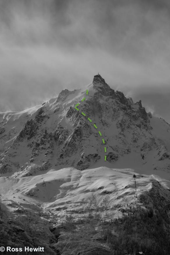 aiguille du midi eugster ski descent topo ross hewitt