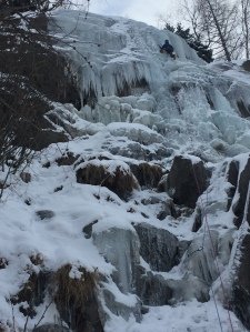 Ice climbing in Chamonix