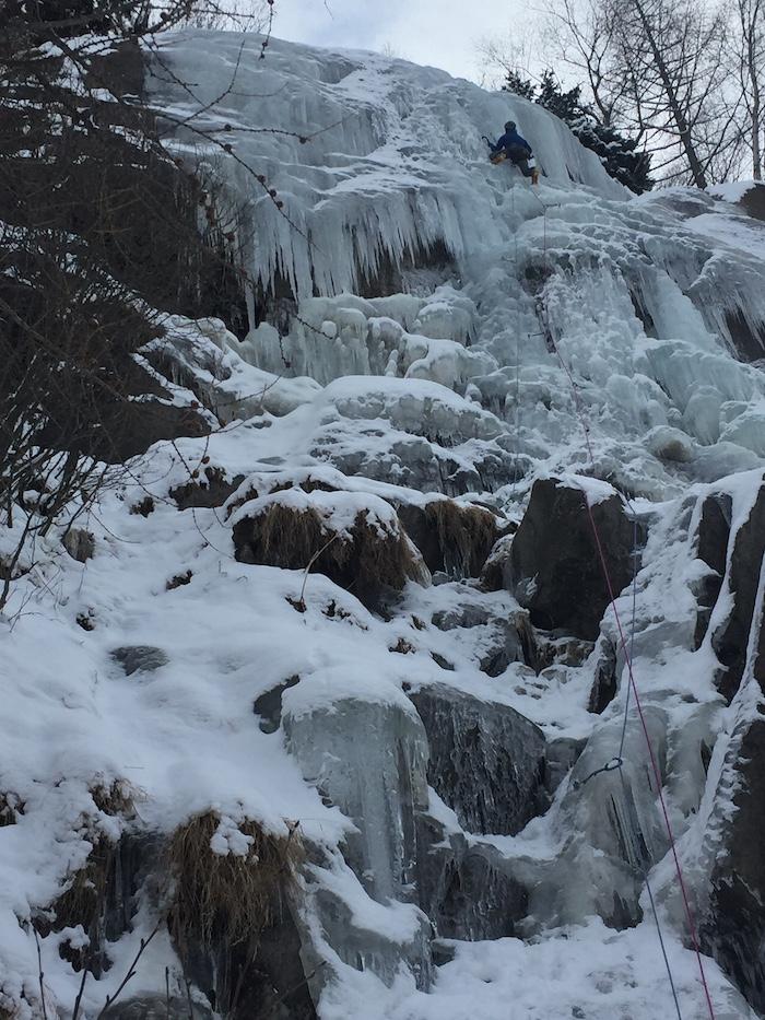 Ice climbing in Chamonix