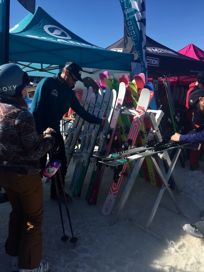 Snow Sport of Great Britain ski test at Pila Italy