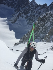 col des cristaux, the classic big steep line in the Argentiere basin