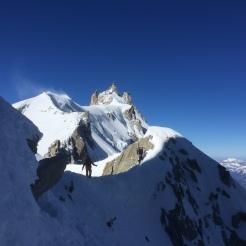 Midi Plan traverse, classic alpinism