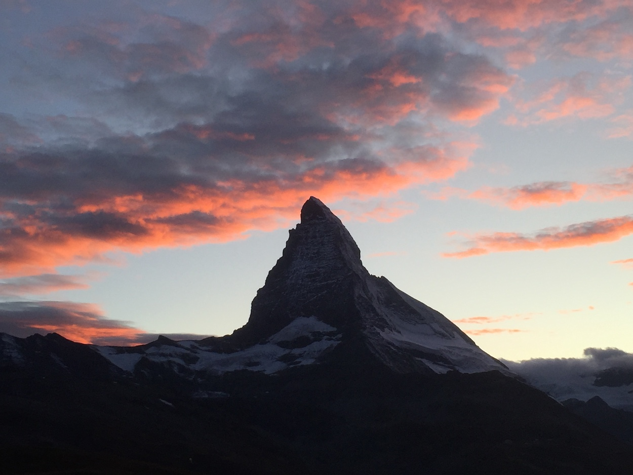 sunset over the Matterhorn