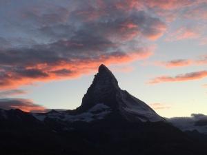 sunset over the Matterhorn