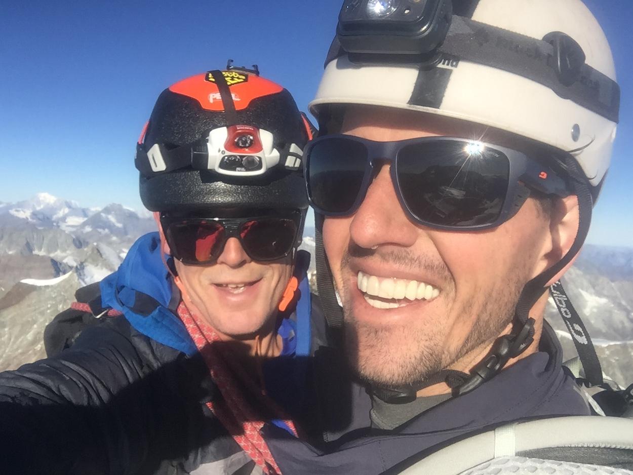 summit of the Matterhorn under 4 hours, winner!